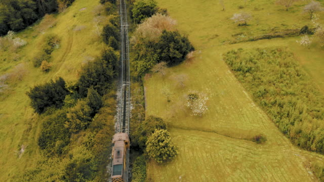 coal train, aerial shot. - cart stock videos & royalty-free footage