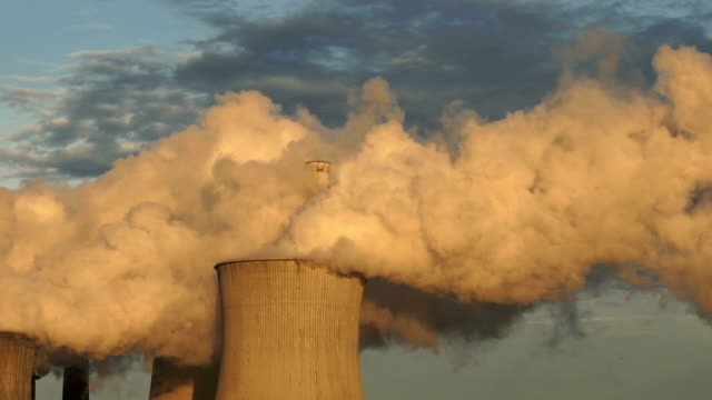 coal-fired power station fumes cinemagraph - climate stock videos & royalty-free footage