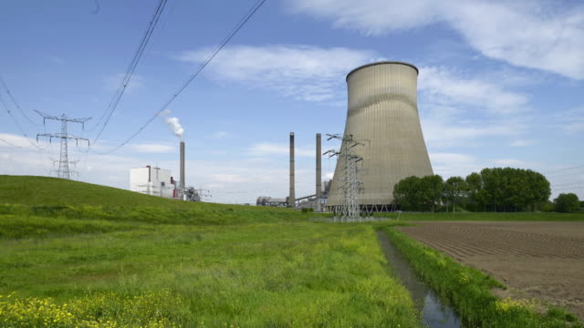 coal-fired power station - coal fired power station stock videos and b-roll footage
