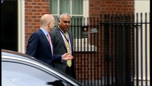 coalition cabinet meeting arrivals andrew lansley mp and caroline spelman along and into number 10 dr liam fox mp along and into no 10 william hague... - liam fox politician stock videos and b-roll footage