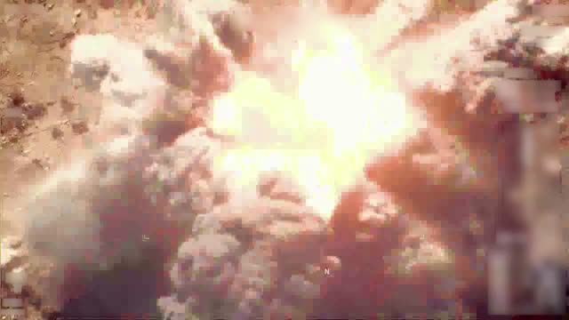 coalition forces conduct an airstrike on a daesh facility in syria jan 4 2019 - loss stock videos & royalty-free footage