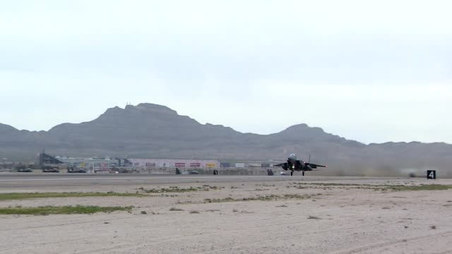 coalition forces take part in reg flag 19-2, nellis air force base, nevada. - luftwaffe stock-videos und b-roll-filmmaterial