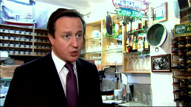 stockvideo's en b-roll-footage met coalition tries to repair split following david cameron eu treaty veto / barroso criticises cameron london int david cameron mp interview sot we had... - prime minister