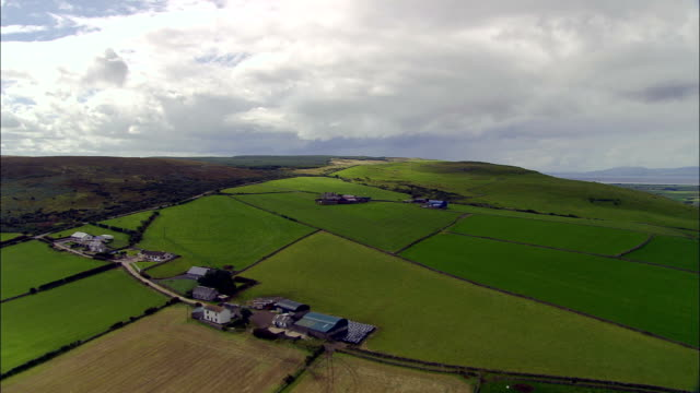 coast and landscape around lough foyle  - aerial view - northern ireland, united kingdom - plain stock videos & royalty-free footage