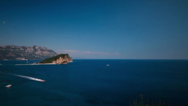 coast area with rock formation, budva, montenegro - montenegro stock videos & royalty-free footage