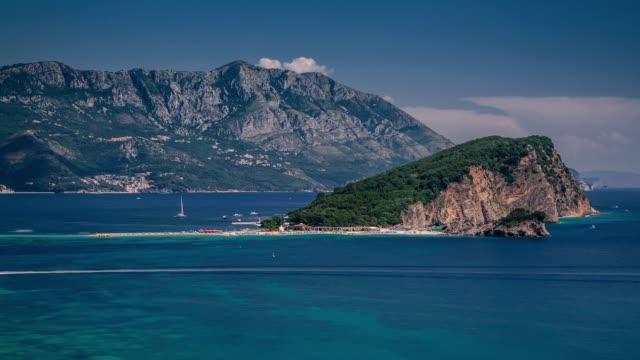 Coast area with rock formation, Budva, Montenegro