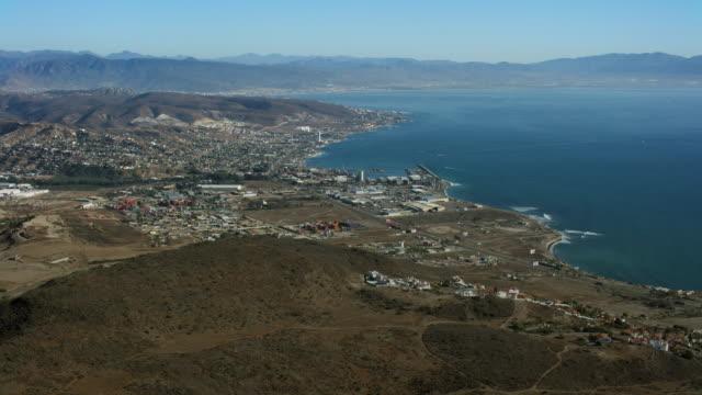 coast at cibolas del mar in baja california - baja california peninsula stock videos & royalty-free footage