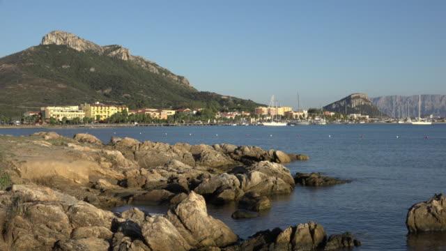 coast at village of golfo aranci - sassari stock videos & royalty-free footage