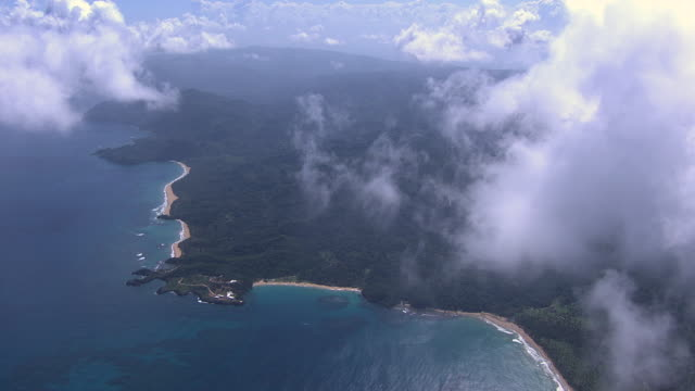 vídeos y material grabado en eventos de stock de coast, forested hills and beach, dominican republic - hispaniola