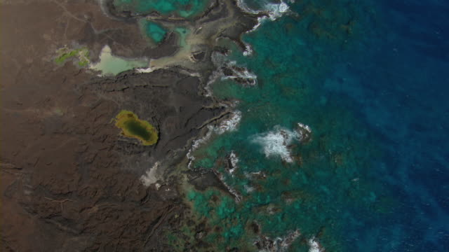Coast formed by volcanic activity on the shore of Ahihi-Kinau Natural Area Reserve on Maui.