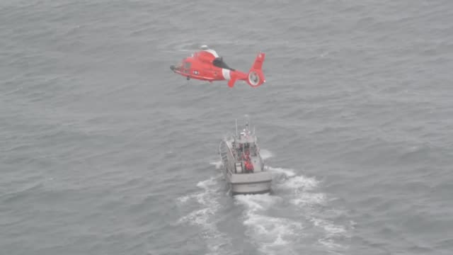 Coast Guard Air Station Port Angeles Washington aircrews conduct training off of Neah Bay Washington with their Eurocopter MH65 Dolphin helicopter...