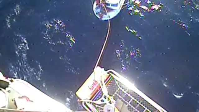 stockvideo's en b-roll-footage met a coast guard aircrew aboard an mh65 dolphin helicopter from air facility newport ore hoists a fisherman off the fishing vessel new faith 52 miles... - cetacea