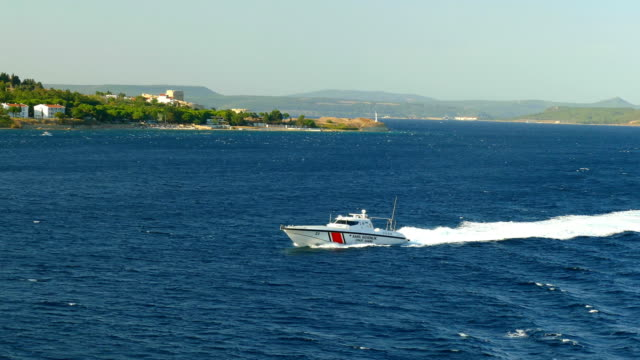 coast guard boat in the dardanelles - coast guard stock videos & royalty-free footage
