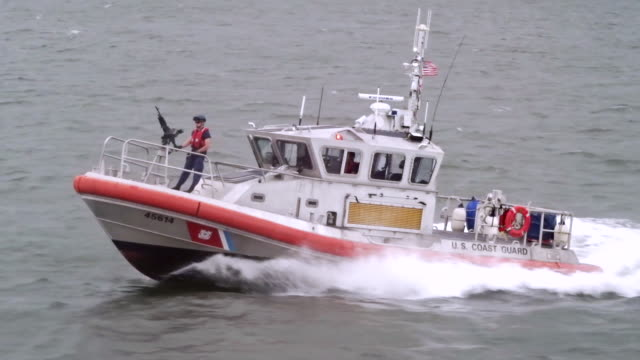 u.s. coast guard gunboat - coast guard stock videos & royalty-free footage
