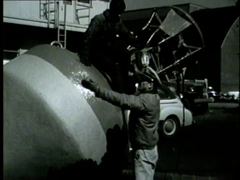 coast guard lifts a buoy with a boat crane in chicago on 1953. - buoy stock videos & royalty-free footage