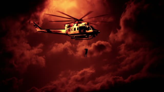 coast guard search rescue helicopter - rescue worker stock videos and b-roll footage