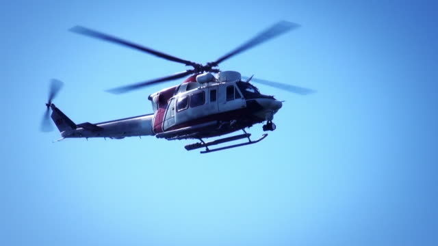 coast guard search rescue helicopter - helicopter stock videos & royalty-free footage