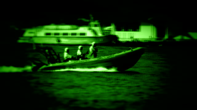 coast guard - night vision stock videos and b-roll footage