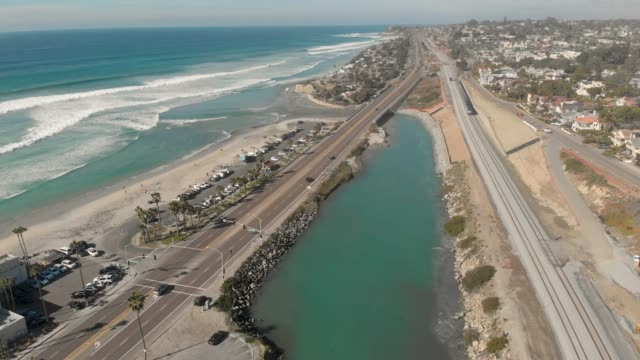coast highway - san diego stock videos & royalty-free footage