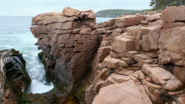 coast in acadia national park - maine stock videos & royalty-free footage