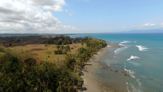 aerial coast in costa rica - costa rica stock videos and b-roll footage