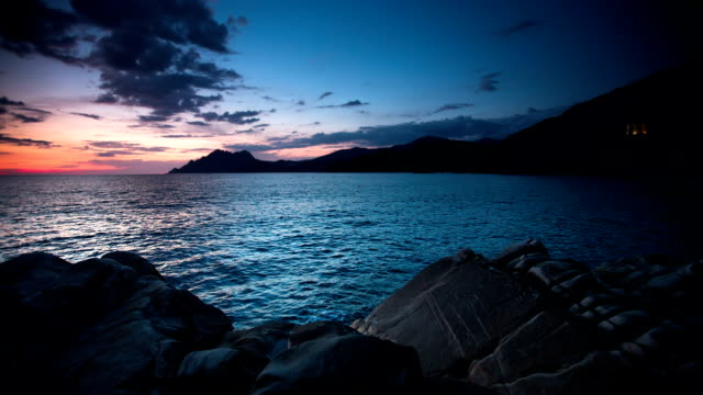 coast in twilight - rocky coastline stock videos & royalty-free footage