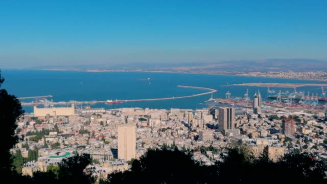 coast, israel panorama - stock video - haifa video stock e b–roll