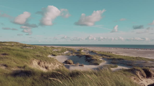 coast landscape island of amrum - schleswig holstein stock videos & royalty-free footage