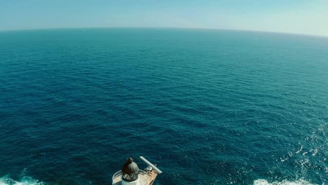 coast landscape with lighthouse - atlantik stock-videos und b-roll-filmmaterial