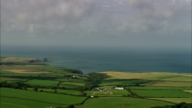 coast near abercastle  - aerial view - wales, county of pembrokeshire, united kingdom - pembrokeshire stock videos and b-roll footage