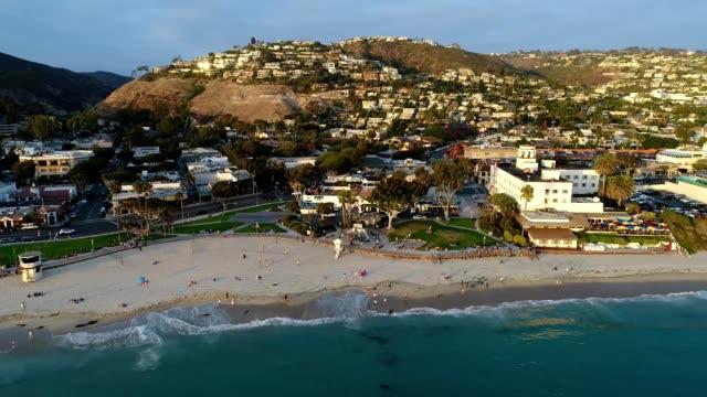 coast of laguna beach california at sunset - laguna beach california stock-videos und b-roll-filmmaterial