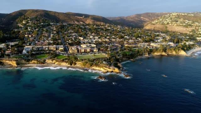Coast of Laguna Beach California at Sunset