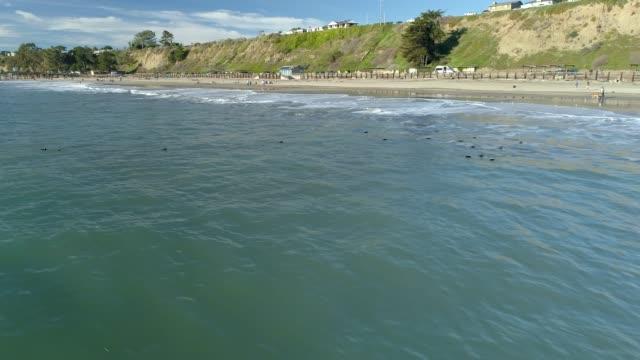 太平洋の海岸 - カリフォルニア州サンタクルーズ点の映像素材/bロール