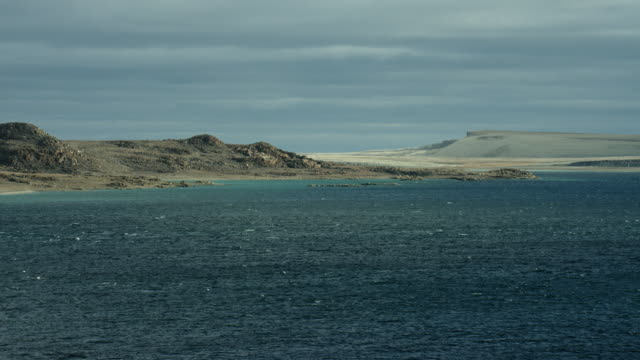 coast of somerset island at bellot strait - northwest passage stock videos and b-roll footage
