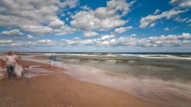coast of the baltic sea panning time lapse at day - baltic sea stock videos & royalty-free footage