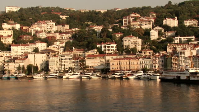 coast of turkey from a ship in the bosphorus strait - yachting stock videos & royalty-free footage