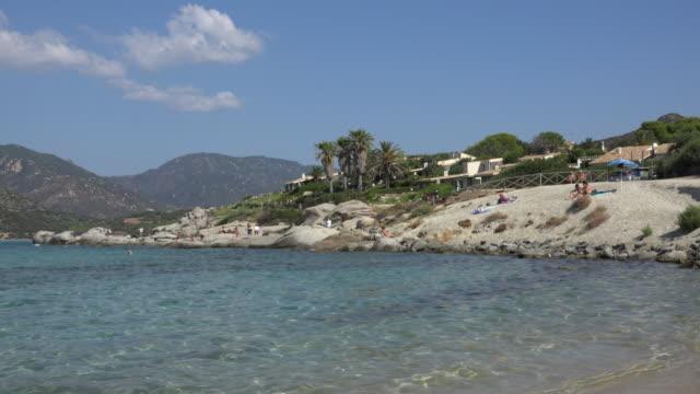 coast of villasimius beach - spiaggia stock videos & royalty-free footage