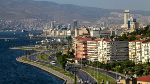 coast road and i̇zmir(high angle wiew) - izmir stock videos & royalty-free footage