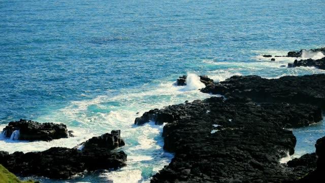 Kust op Snaefellsness schiereiland in IJsland, Slow motion