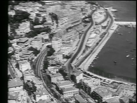 aerial coastal city of monte carlo / monaco - monte carlo stock videos & royalty-free footage