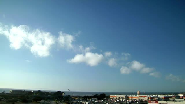coastal clouds, timelapse - stratus stock videos & royalty-free footage