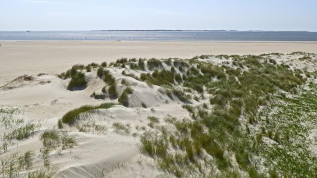 aerial coastal dunes - sand dune stock videos & royalty-free footage