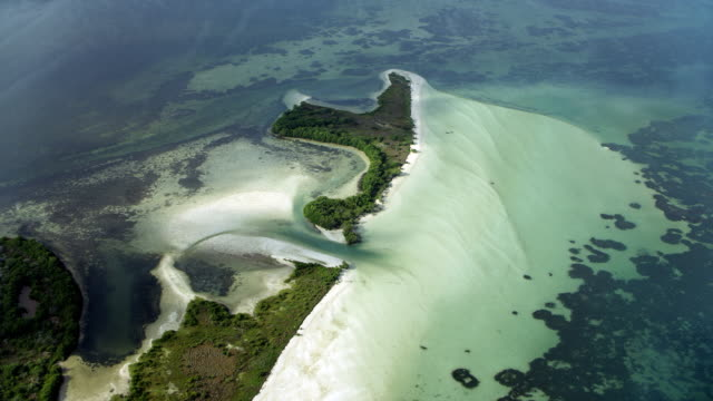 coastal features on yucatan coastline - yucatan peninsula stock videos and b-roll footage