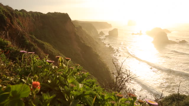A coastal landscape from Highway One in Big Sur on the California coast line.