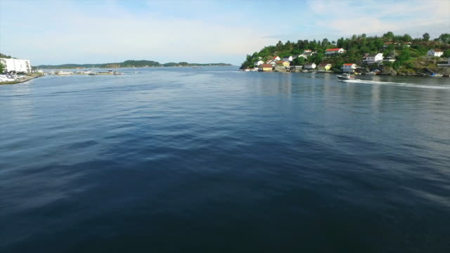 coastal life on the fjords of kragero - telemark stock videos and b-roll footage