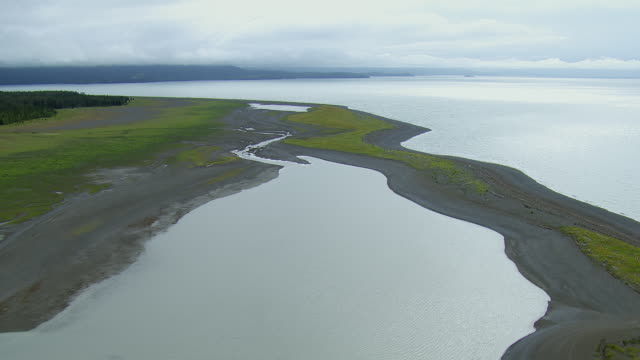 Coastal Mudflats At Kachemak Bay Alaska