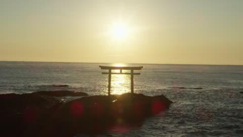 coastal oarai isosaki-jinja shrine, wide - shrine stock videos & royalty-free footage