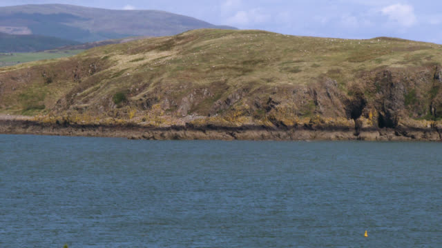 coastal scene in south west scotland - johnfscott video stock e b–roll