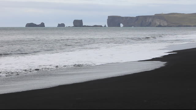 coastal scenery at dyrholaey near vik on iceland's south coast - dyrholaey stock videos & royalty-free footage