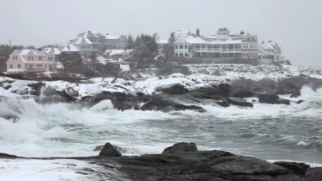 coastal storm - maine stock videos & royalty-free footage